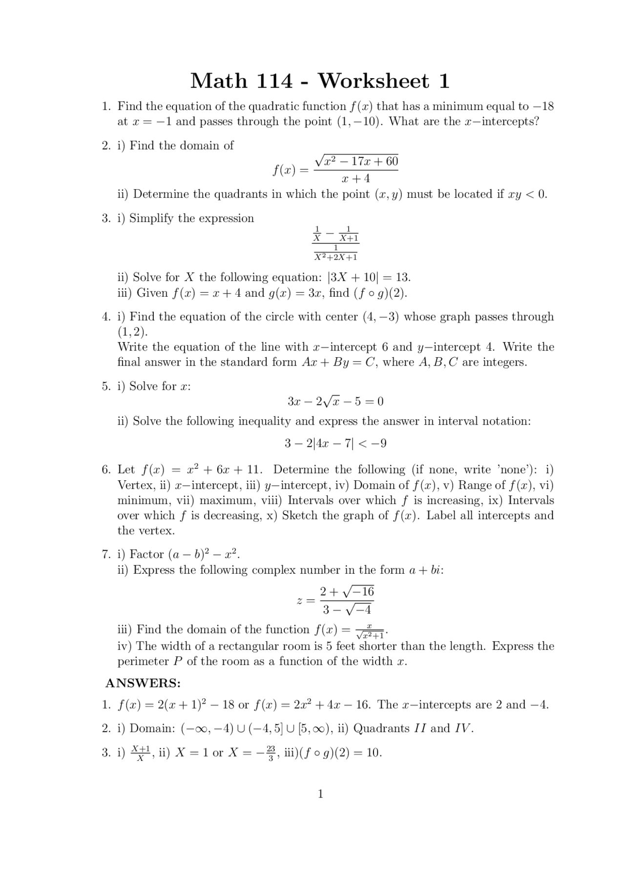 2 practice and domain answer equations key expressions Answer Key