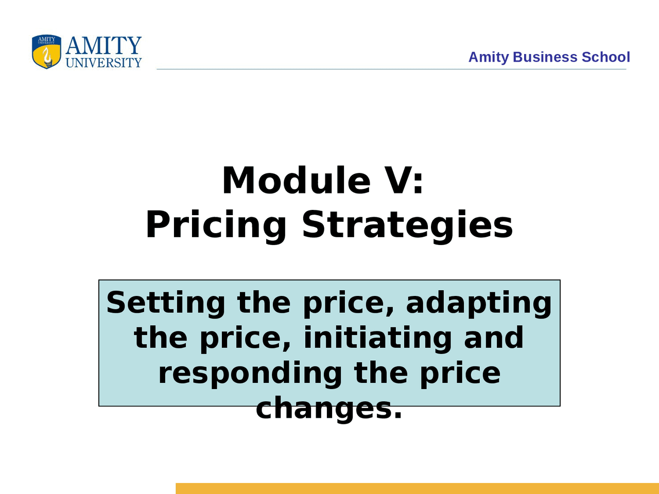 Product Pricing   Lecture   Marketing Management   Docsity
