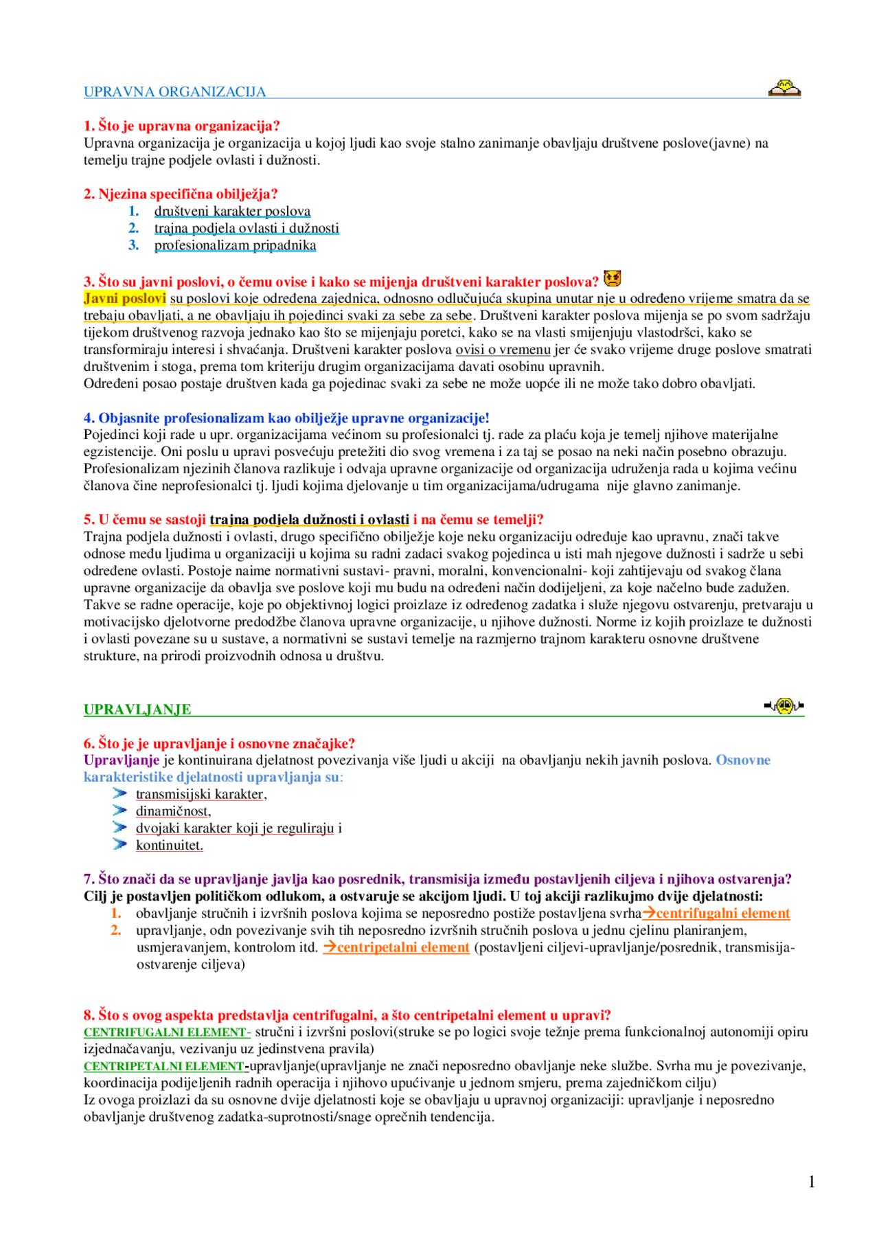 Odgovori Na Ispitna Pitanja Ispit Upravna Nauka Pravo 3 Ispiti Predlog Upravno Pravo Docsity