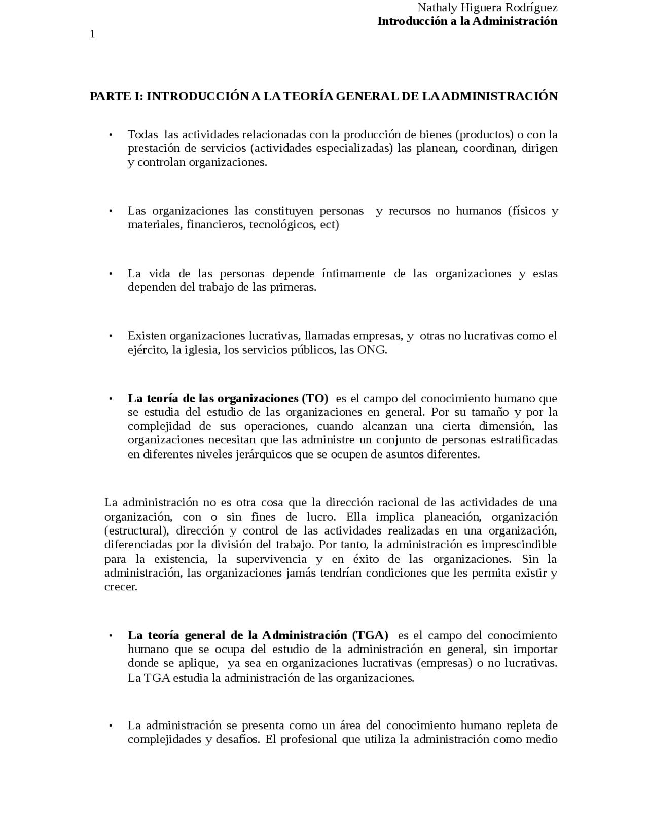 Administración de empresas introducción a la administración   Docsity