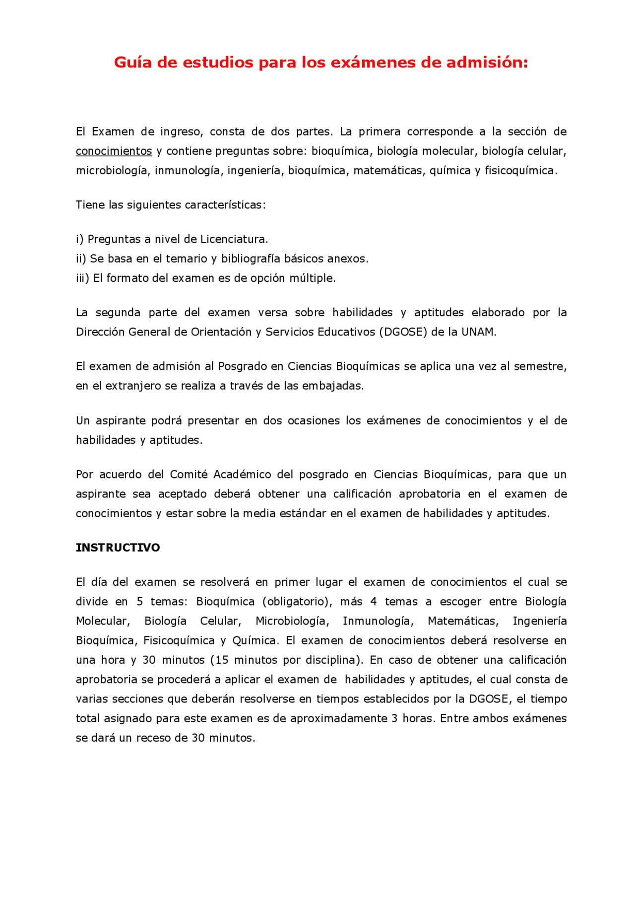 Examenes De Bioquimica Guia Docsity