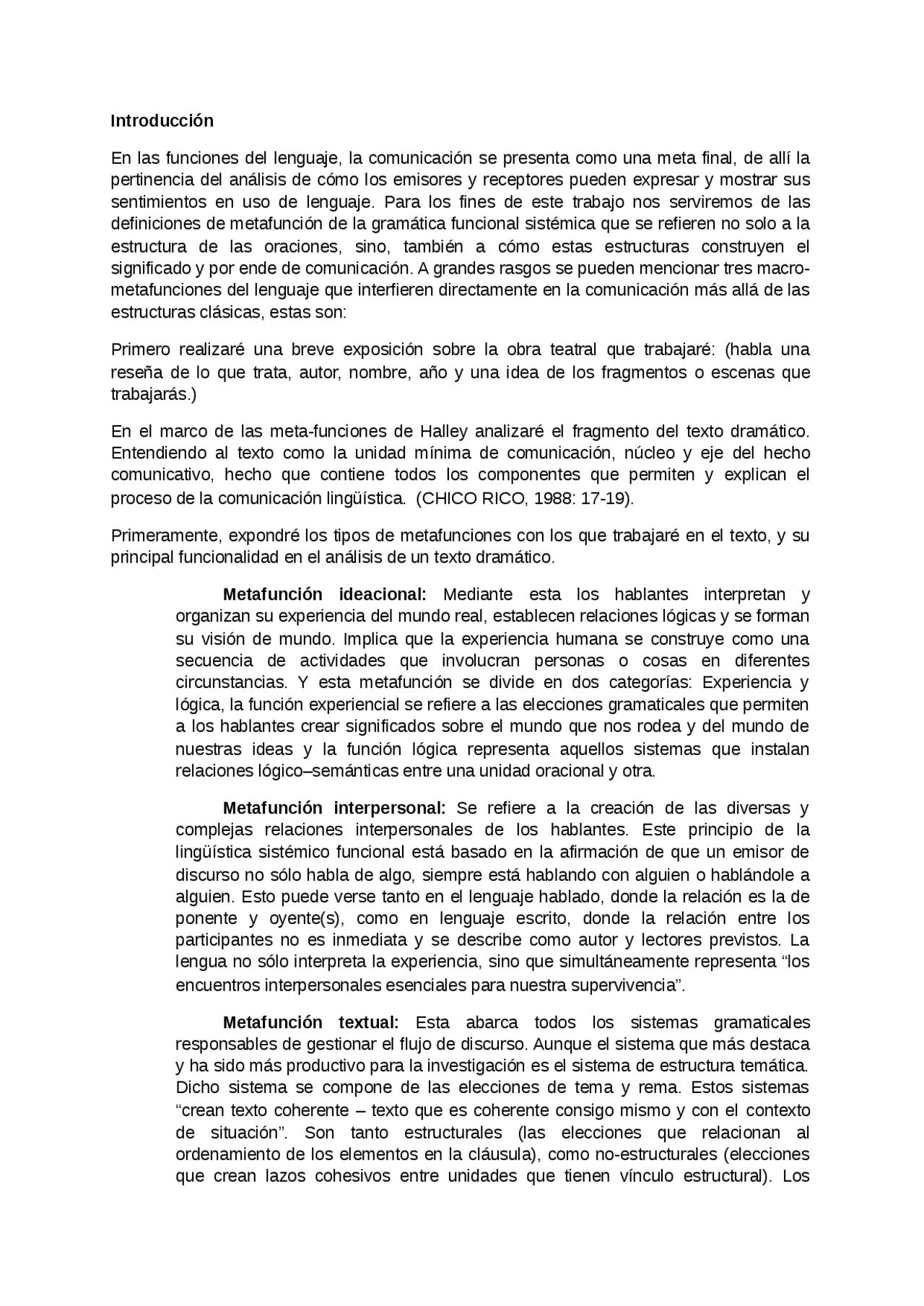 Analisis De Un Texto Dramático Docsity