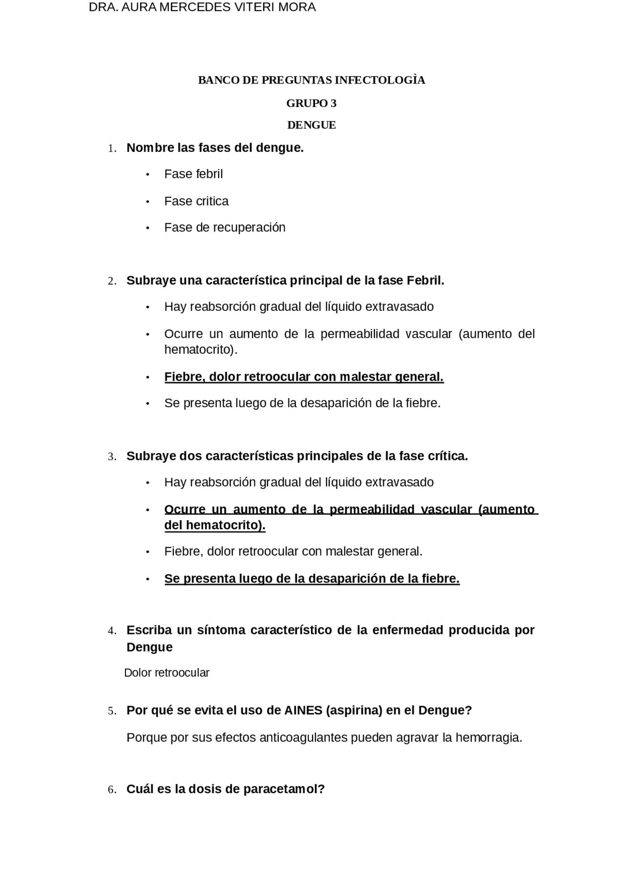 Banco De Preguntas Infectologia Docsity
