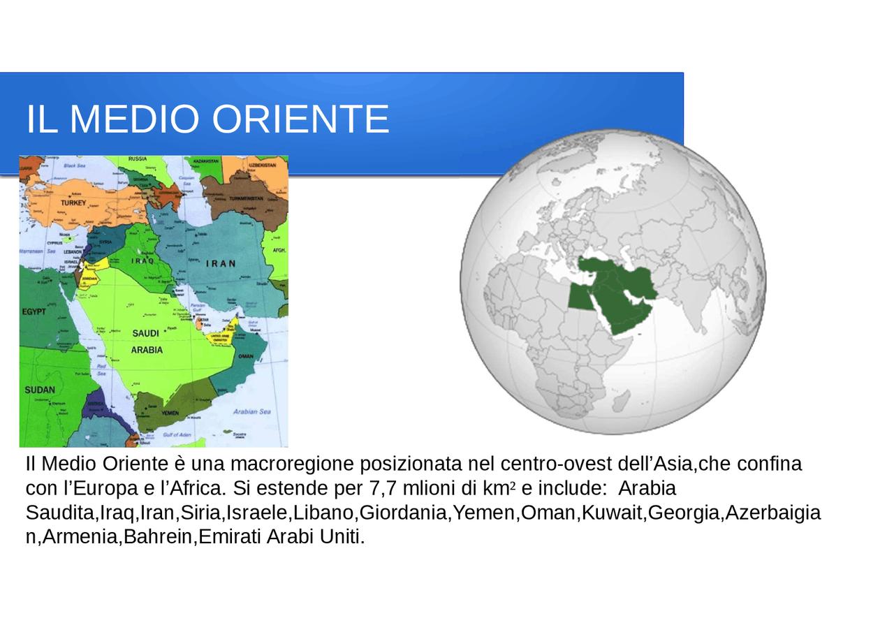 Cartina Europa E Medio Oriente.Presentazione Sul Medio Oriente Docsity