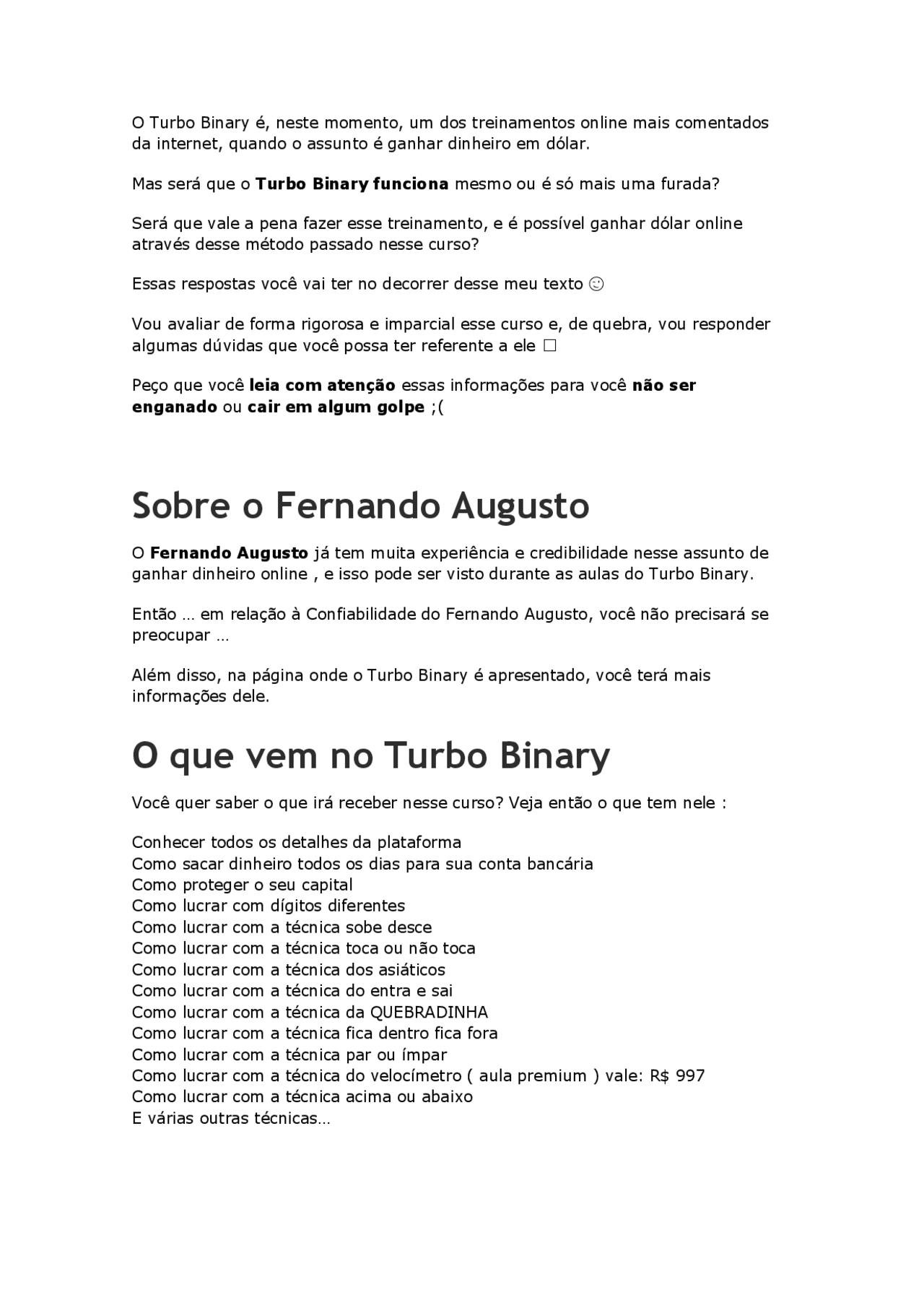 turbo binary reclame aqui