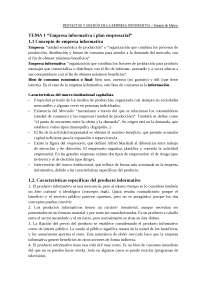 Projectes i gestió de l'empresa informativa