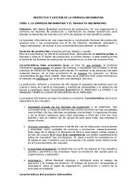 Proyectos y gestión de la empresa informativa
