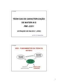 Estudo de caso 1 Difração Raios-X, Notas de estudo de Engenharia Química
