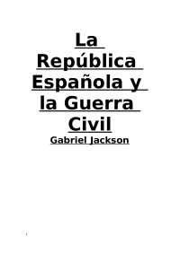 Resumen del libro de Gabriel Jackson