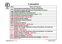 Notas de Aula - Análise de Falha Prof. Tanaka Primeira Aula, Notas de aula de Engenharia Mecânica