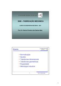Fabricação Mecânica - Introdução, Notas de aula de Engenharia Mecânica