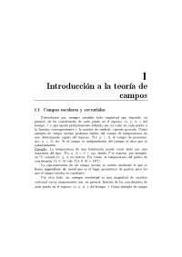 Introducción a la teoría de campos
