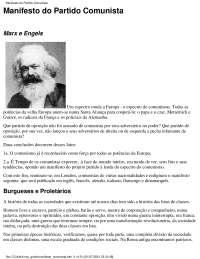 marx manifesto comunista, Notas de estudo de Relações Internacionais