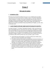 Tema 2 - Mercado de trabajo