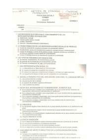 examen de mostra, Exámenes de Psicología