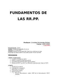 Fundamentos de las RRPP
