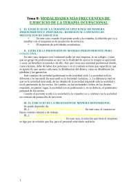 08. Modalidades más frecuentes del ejercicio de la terapia ocupacional