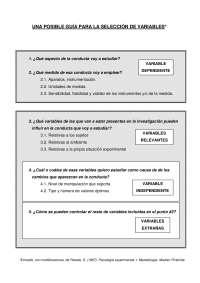 GUÍA SELECCIÓN DE VARIABLES