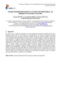 Desafios da Automação Industrial, Notas de estudo de Tecnologia Industrial