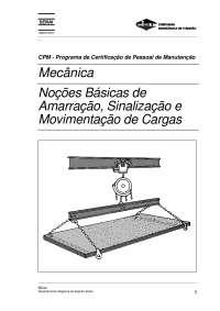Amarração e movimentação de Cargas, Notas de estudo de Engenharia Mecânica