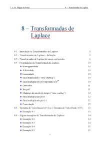 Transformadas de Laplace, Notas de estudo de Automação
