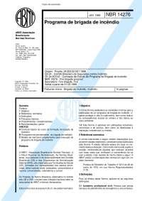 Nbr 14276 - 1999 - Programa de Brigada de Incêndio, Notas de estudo de Cultura