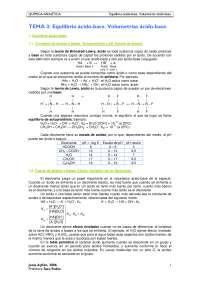 TEMA 3. Equilibrio ácido-base. Volumetrías ácido-base