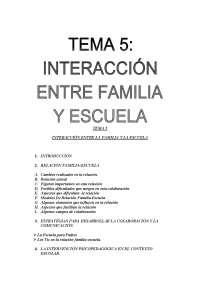 Tema5 Interacción entre familia y escuela