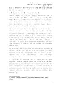 ESTRUCTURA ECONÒMICA DE L'ANTIC RÈGIM I NAIXEMENT DEL MÓN CONTEMPORANI
