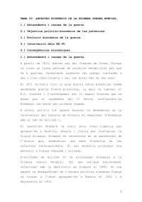 ASPECTES ECONÒMICS DE LA PRIMERA GUERRA MUNDIAL