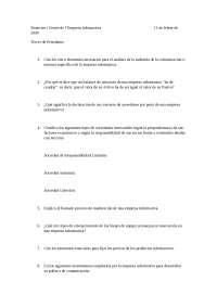Examen Projectes convocatòria Febrer 2009