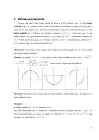 Derivada Implicita, Notas de estudo de Engenharia Informática