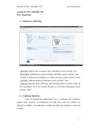 Apostila de Solid Edge V20, Notas de estudo de Tecnologia Industrial