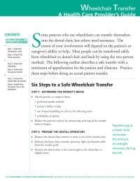 Saúde bucal - Como fazer a transferência de paciente cadeirante para a cadeira odontológica (inglês), Notas de estudo de Odontologia