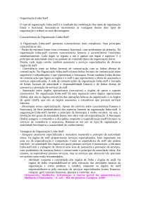 Organização Linha-Staff, Notas de estudo de Administração Empresarial