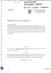 Dispense di geometria - 1