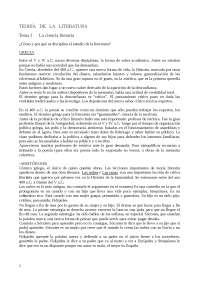 Teoría de la literatura -para hispánicas, clásicas y francesas-