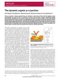 The dynamic organic p?n junction, Notas de estudo de Engenharia de Produção