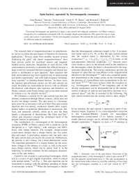 Spin battery operated by ferromagnetic resonance, Notas de estudo de Engenharia de Produção