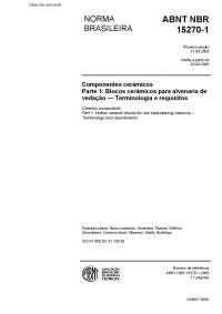 Norma tecnica, Notas de estudo de Engenharia de Materiais