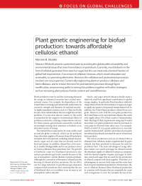 Plant genetic engineering for biofuel production towards affordable cellulosic ethanol, Notas de estudo de Engenharia de Produção