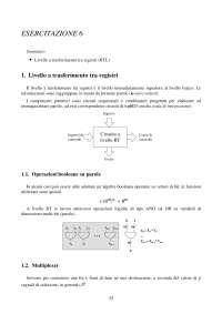 Calcolatori elettronici - Esercitazione su Trasferimento tra registri RTL -  Parte 1