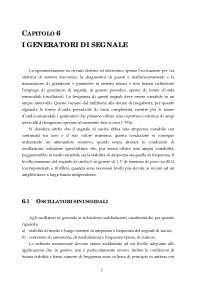 Appunti di Strumentazione e sistemi di misura - I generatori di segnale