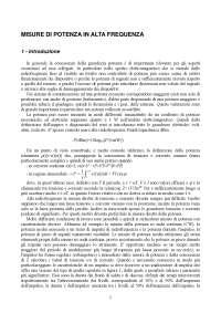 Appunti di Strumentazione e sistemi di misura - Misure di Potenza