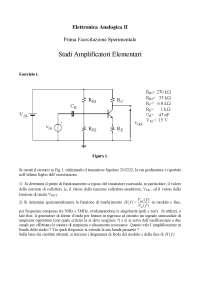 Elettronica analogica 2 - Esercitazione