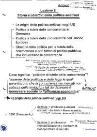 Appunti e Slide di Economia industriale avanzata - Politica antitrust - 4