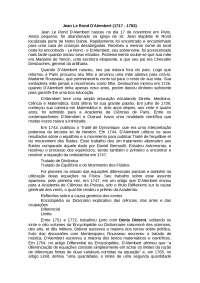 D'Alembert, Notas de estudo de Cálculo