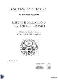 Misure e collaudo di sistemi elettronici - Relazione di laboratorio