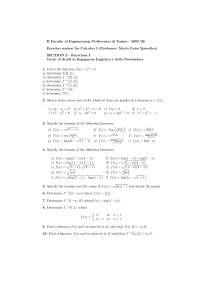 Calcolous 1 - Functions - Parte 1, studio di funzioni