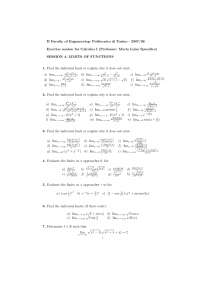 Calcolous 1 - Limits and Functions, limiti